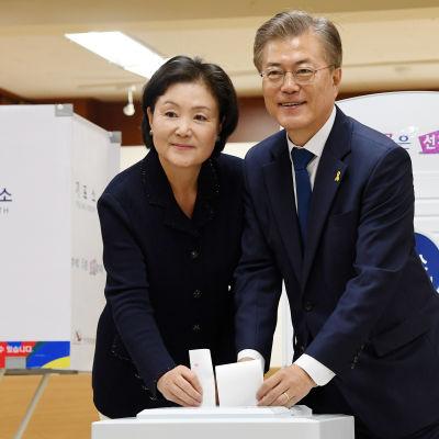 Moon Jae-in vann Sydkoreas presidentval i maj 2017