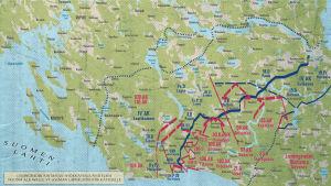 Neuvostoliiton hyökkäyssuunnitelma VT-linjalle 14.6.1944