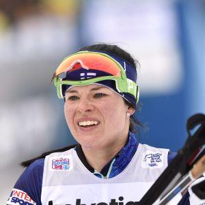 Krista Pärmäkoski tappade tredjeplatsen på slutet.
