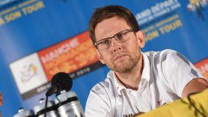 Kjell Carlström inför Tour de France, IAM-stallet, juni 2016.