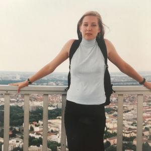 Johanna Vuorelma 17-vuotiaana Saksassa