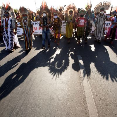 Protesti Brasiliassa.