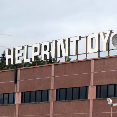Painotalo Helprintin kyltti Mikkelissä.