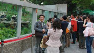 Turister i djurparken i Taipei