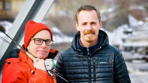 Toimittaja Marko Gustafsson ja näyttelijä Jasper Pääkkönen.