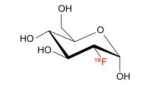fluorin 18F-isotooppi, kemiallinen kaava