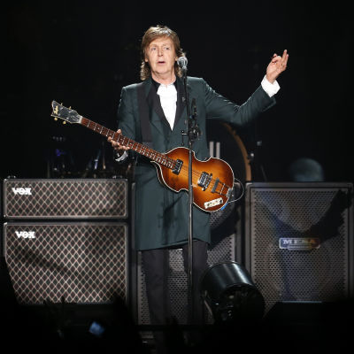 Paul McCartney på en konsert i Chile 2014.