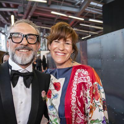 Osteria Francescana -ravintolan Massimo Bottura ja hänen vaimonsa Lara Gilmore