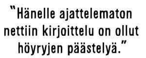 """Sami Koiviston sitaatti: """"Hänelle ajattelematon nettiin kirjoittelu on ollut höyryjen päästelyä."""""""