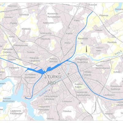 Väyläviraston kartta maastotutkimusalueista.