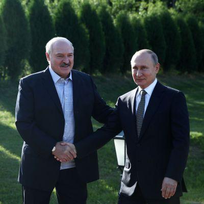 Valko-Venäjän presidentti Aljaksandr Lukašenka ja Venäjän presidentti Vladimir Putin tapasivat Minskissä kesäkuussa 2019.