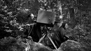 Ingmar Bergman kuvaamassa