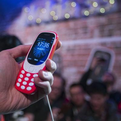 Presentation av ny Nokia 3310 den 26 februari 2017.