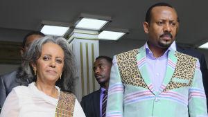 Sahle-Work Zewde och Abiy Ahmed.