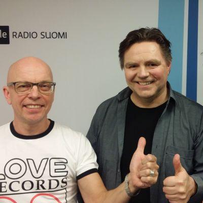 Marko Gustafsson, Timo Turpeinen ja Jorma Hietamäki Levylautakunnassa