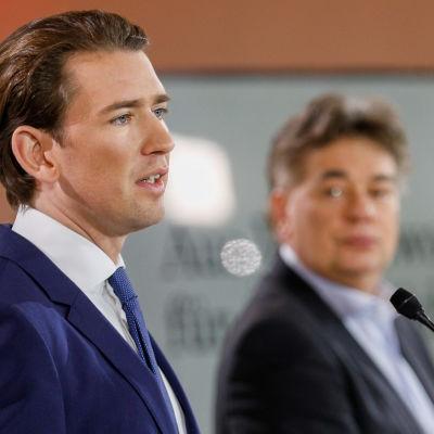 Sebastian Kurz ja Werner Kogler.