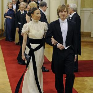 Henna och Lauri Tanskanen på Självständighetsmottagning 2010