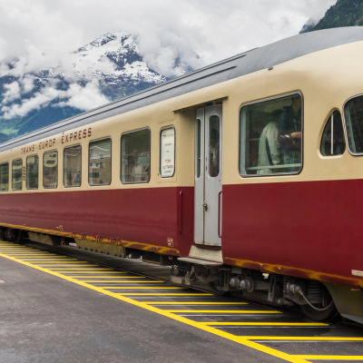 Bild på ett Trans Europ Express-tåg byggt 1961.