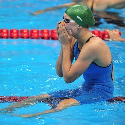 15-åriga Ruta Meilutyte vann OS-guld på 100 meter bröstsim
