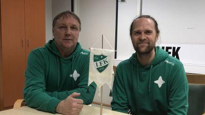 Mikael Källman och Patrik Roslander är nöjda med övergången från Dicken till GrIFK.