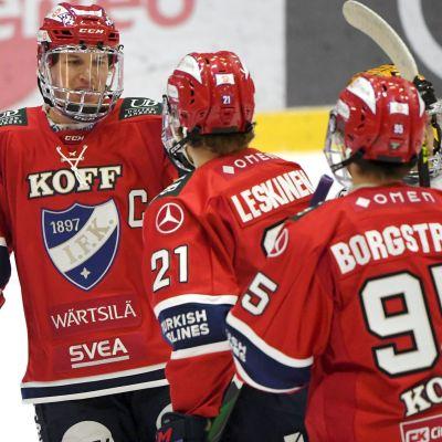 HIFK:n Jere Sallinen, Ville Leskinen ja Henrik Borgström