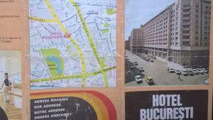 Turistbroschyr från Bukarest, 1988.