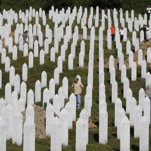Minnesplatsen i Potocari, Bosnien 11.7.2016