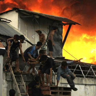 Invånarna fick snabbt överge sina hus