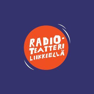 Radioteatteri liikkeellä -projektin logo väritaustalla.