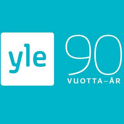 Sininen logo tehty 90v -juhlavuotta varten