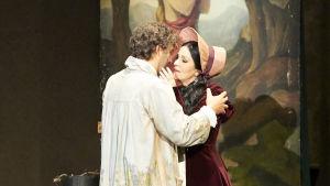 Jonas Kaufmann (Cavaradossi) ja Angela Gheorghiu (Tosca)