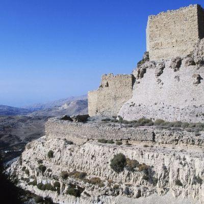 Fästningen Karak i staden med samma namn i västra Jordanien.