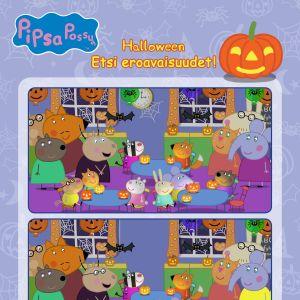 Pipsa Possu Halloween puuha - Etsi parit!
