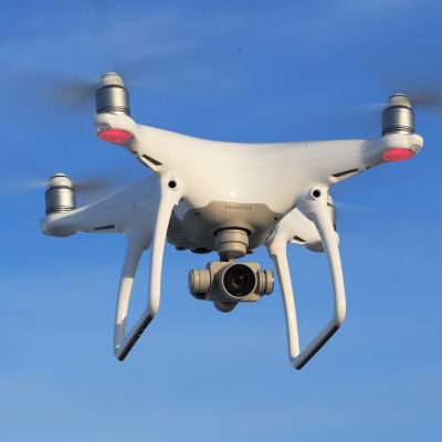 Drooni ilmassa Lapualla.