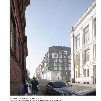 Nytt bostadsprojekt där gardets polishus låg