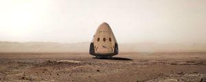 Dragon-alus Marsin pinnalla taiteilijan näkemänä