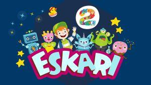 Pikku Kakkosen Eskarin hahmot ja eskari-teksti