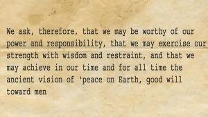 Photoshoppad bild på John F. Kennedys tal.