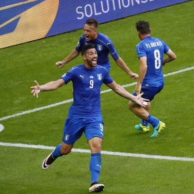 Graziano Pellé stod för Italiens andra mål mot Spanien.