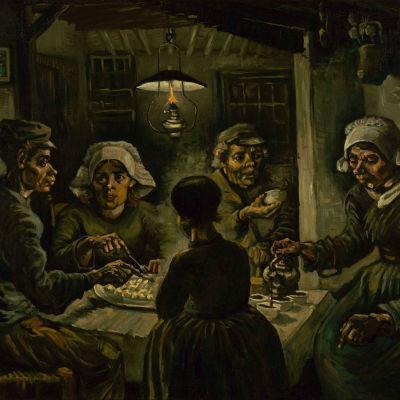 Vincent van Goghin maalaus Perunansyöjät