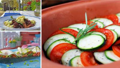 Tomater och zucchini
