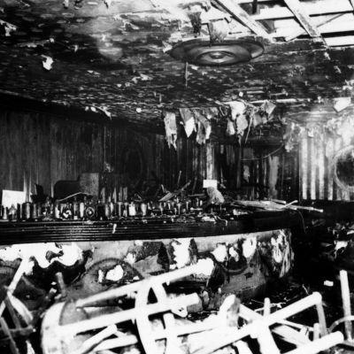 Nattklubben Cocoanut Grove efter branden år 1942.