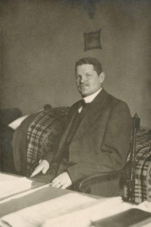 Landshövdingen i Nylands län, Bruno Jalander, år 1918.