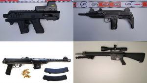 Polisens beslagtagna vapen
