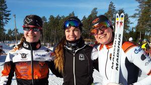 Hanna Ray, Sara Ray och Lena Ray tog brons vid FSSM.