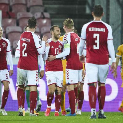 Tanskan miesten jalkapallomaajoukkueen pelaajia