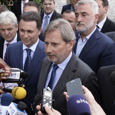 EU:s utvidgningskommissionär Johannes Hahn