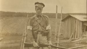 En vit soldat år 1918.