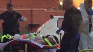 Den brittiska mannen som exponerats för novitjok hämtades av ambulanspersonal i sitt hem i Amesbury den 30 juni. Hans partner hade förts till sjukhus redan på morgonen.