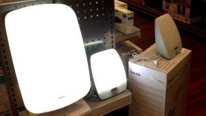 dagsljuslampor i en affär